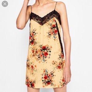Zara Trafaluc Collection lace cami mini dress